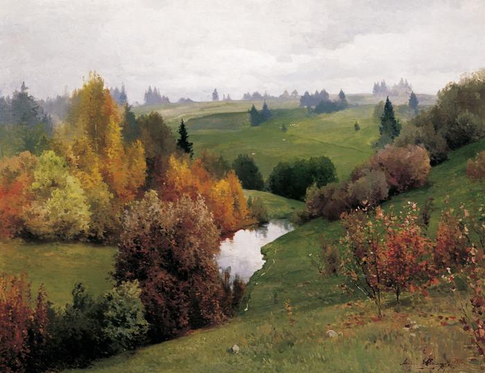 картина левитана золотая осень:
