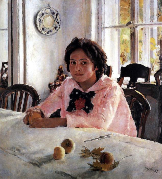 Серов Валентин  - Девочка с персиками (Портрет В. С. Мамонтовой). 1887 (635x700, 548Kb)