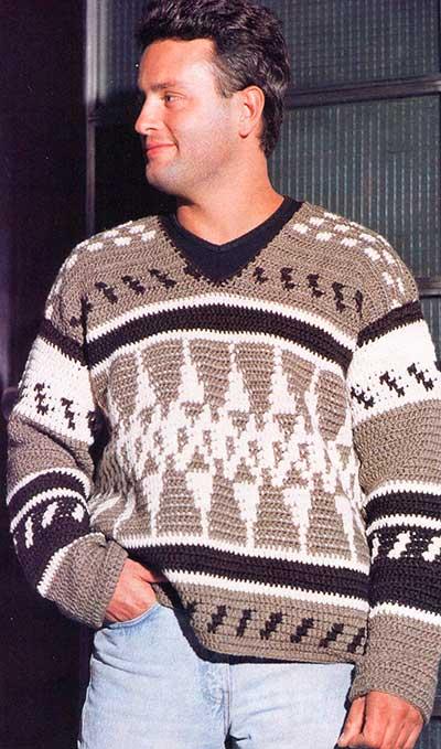 мужской пуловер по мотивам