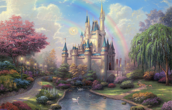 4963546_New_Day_at_the_Cinderella_Castle_Thomas_Kinkade (596x380, 306Kb)