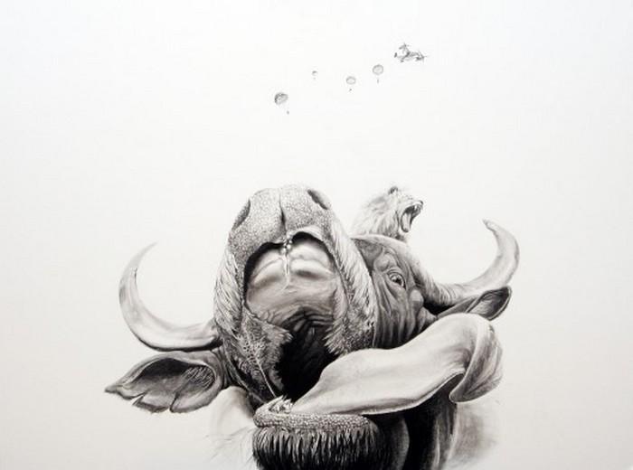 Черно белые рисунки от Martin Kalanda 2 (700x520, 46Kb)