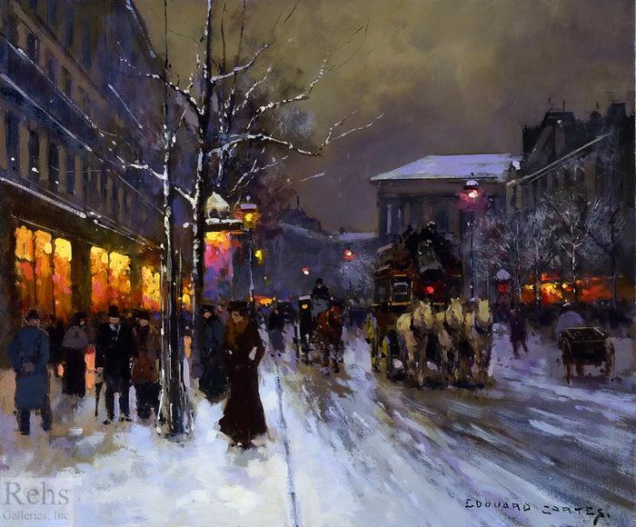 edouard_leon_cortes_a3444_boulevard_de_la_madeleine_winter_wm (700x580, 177Kb)