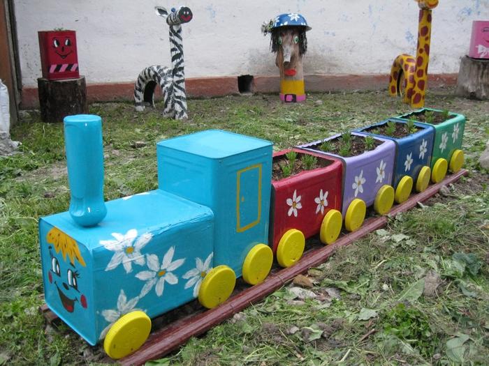 Поезд своими руками фото