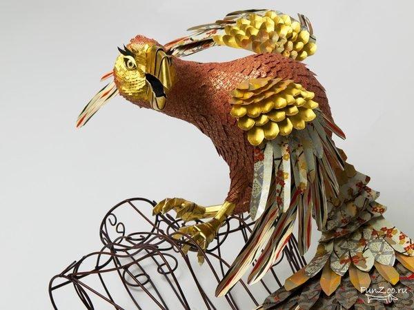 бумажные скульптуры птиц Julie Wilkinson и Joyanne Horscroft 1 (600x450, 62Kb)