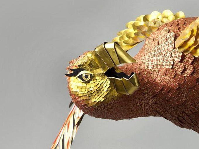 бумажные скульптуры птиц Julie Wilkinson и Joyanne Horscroft 3 (680x510, 56Kb)