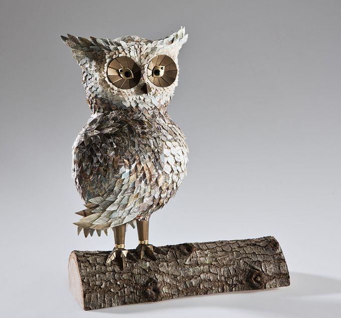 бумажные скульптуры птиц Julie Wilkinson и Joyanne Horscroft 5 (680x634, 80Kb)