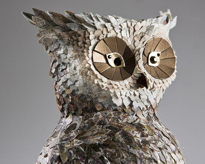 бумажные скульптуры птиц Julie Wilkinson и Joyanne Horscroft 7 (680x544, 103Kb)
