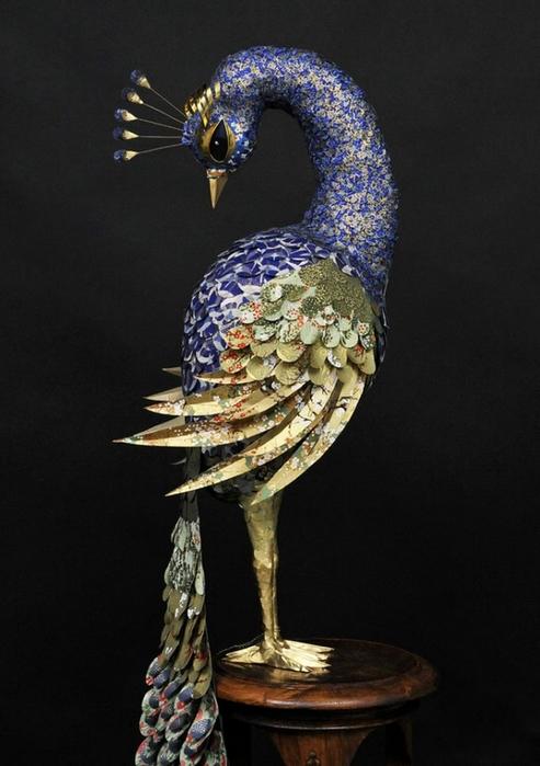 бумажные скульптуры птиц Julie Wilkinson и Joyanne Horscroft 9 (493x700, 198Kb)