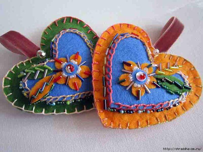 фетровые сердечки, автор Shraddha, 1 (700x525, 178Kb)