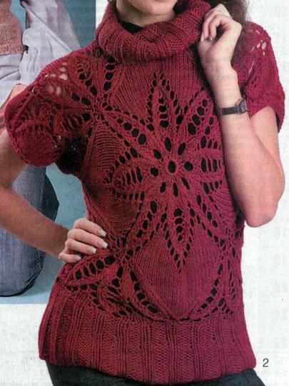 Женский пуловер с короткими рукавами связан из двух квадратных ажурных мотивов спицами/4683827_20120919_220610 (405x541, 247Kb)