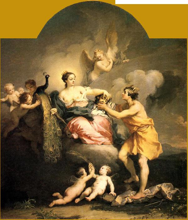 Юнона, жена Юпитера, приставила стоглазого великана Aргуса стражем к