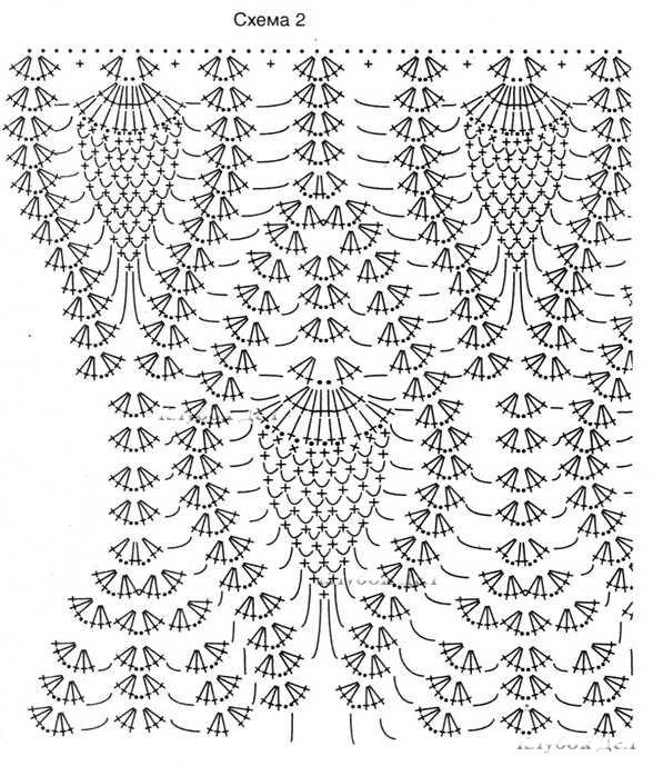 платье крючком схемы и