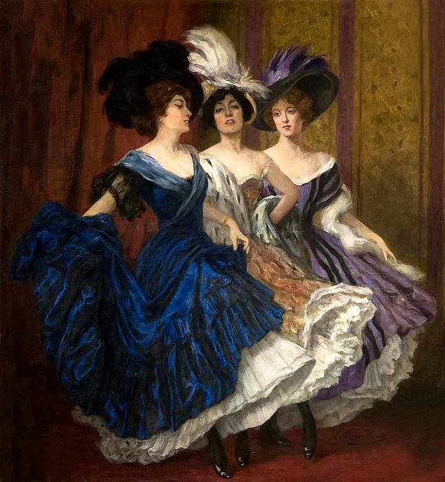 Ludwig von Langenmantel(1854-1922)Drei Tänzerinnen (647x700, 368Kb)