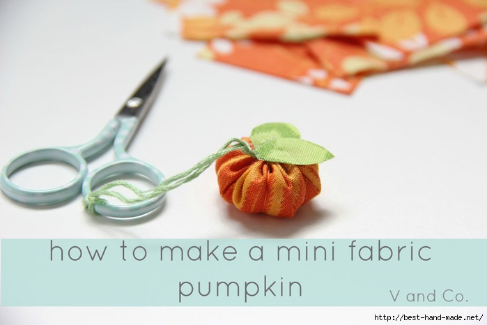 how to make a mini fabric pumpkin header (700x466, 102Kb)