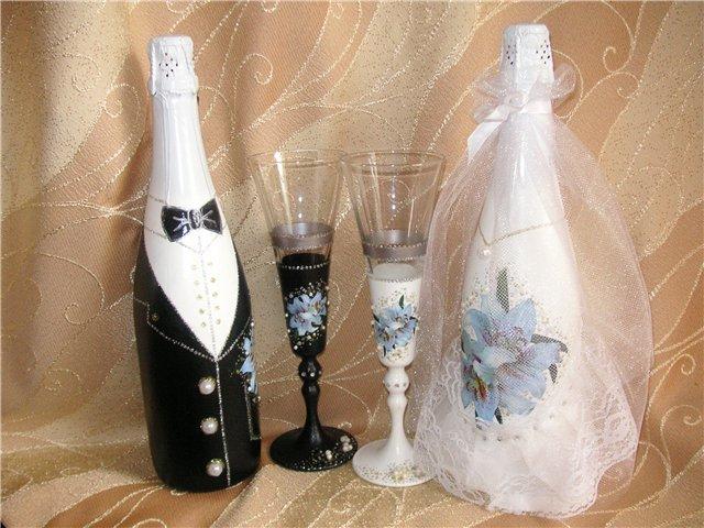 Своими руками декупаж бутылок на свадьбу
