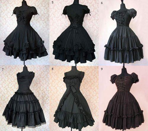 Аниме готические платья