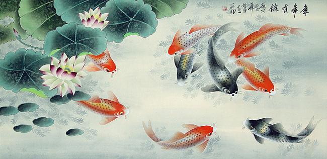 1 Рыбы также символизирует гармонию семейного счастья и воспроизводства, поскольку они быстро размножаются и иногда плавают парами (650x316, 134Kb)