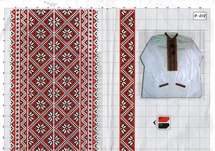 Схемы для вышивки узоры рубахи