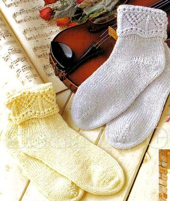 Носки женские с ажурной отделкой спицами/4683827_20120921_172416 (348x411, 185Kb)