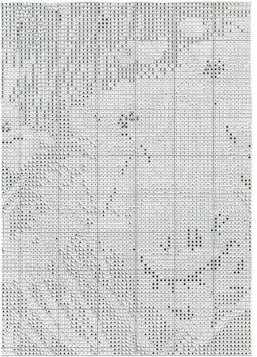 """Схема вышивки крестом  """"Маковое поле """" (Anchor) ."""