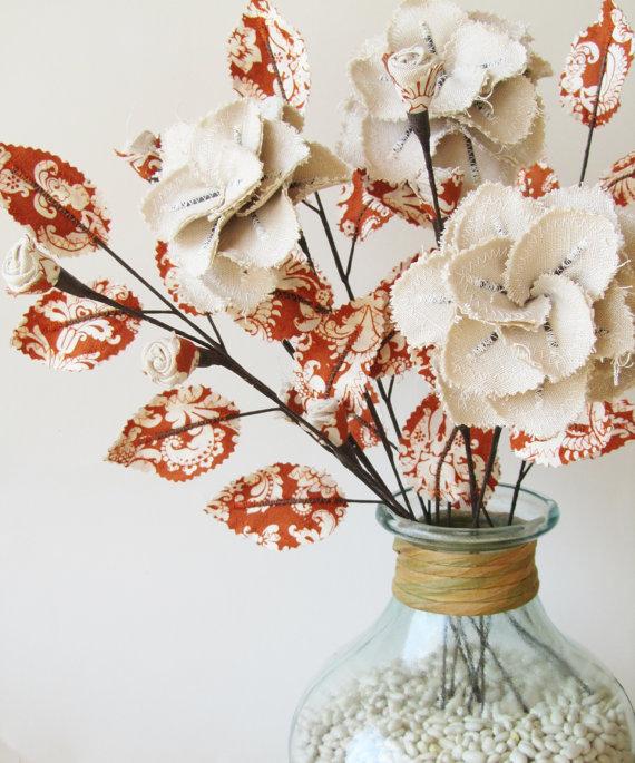 Цветы из ткани своими руками в вазу 64
