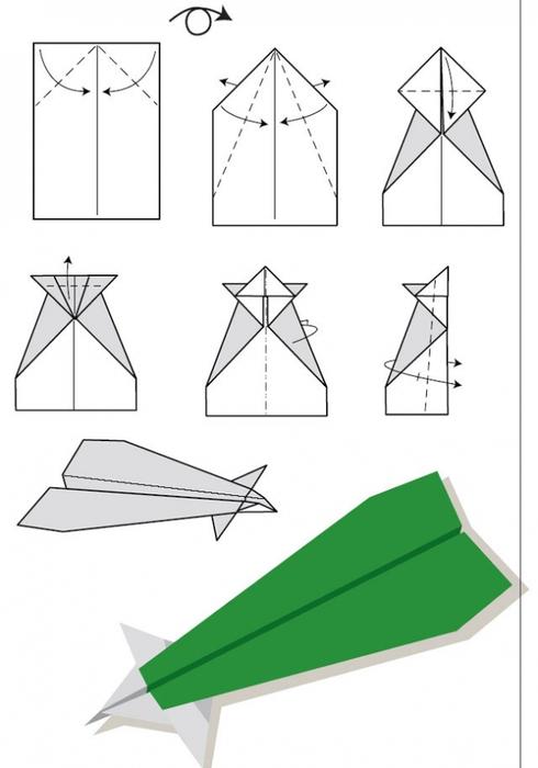 Самолёта из бумаги своими руками схемы