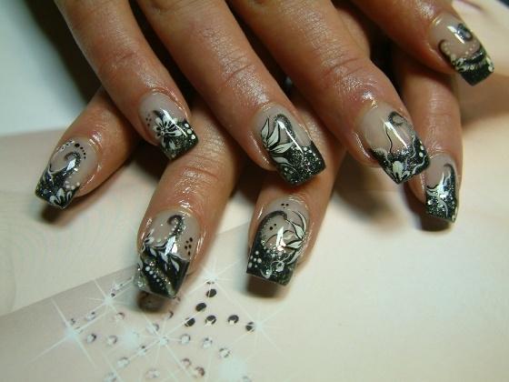 Змея рисунок на ногтях