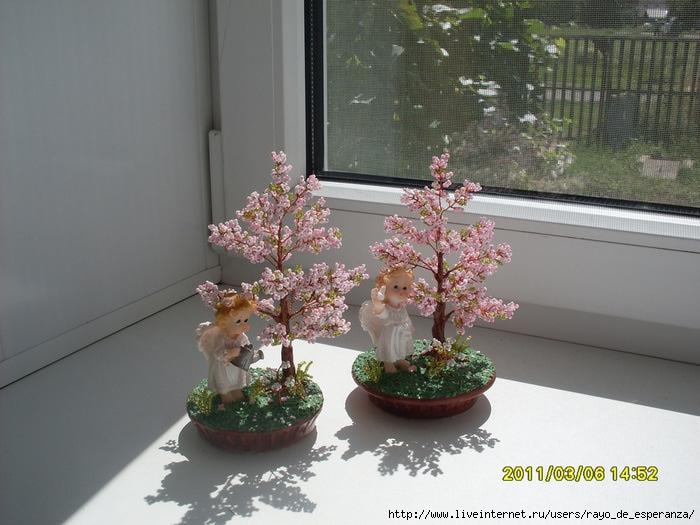 """Часть 2. Часть 8. Часть 9. Мои первые деревья из бисера.  Дерево-сердце с ангелом.   """"Часть 1. Грелка для чайника..."""