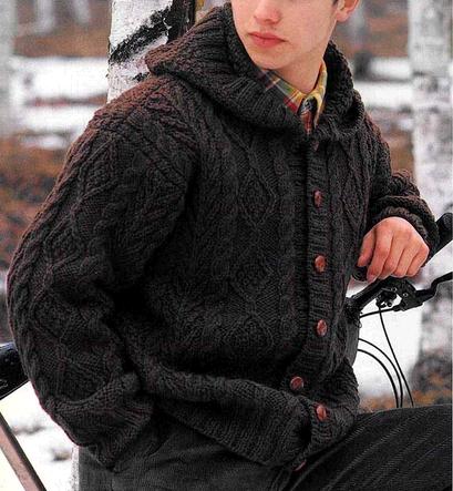 Мужская вязаная спицами куртка с капюшоном/4683827_20120923_152226 (409x443, 161Kb)