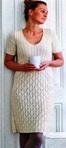 Вязание - Для женщин.  Вязание - Платья, сарафаны ж. Ажурное белое платье.
