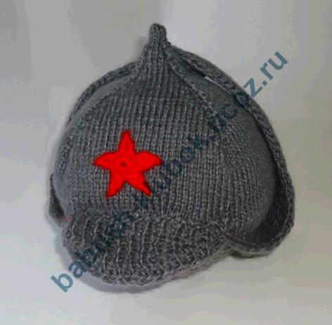 Шапочка =Буденовка= для мальчика вязаная спицами,мастер-класс/4683827_20120923_190541 (472x462, 122Kb)