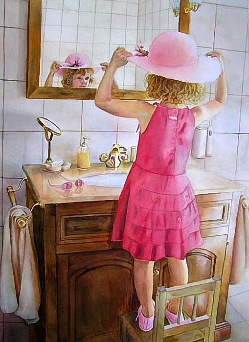 Doris Joa.Pretty in pink (509x700, 292Kb)