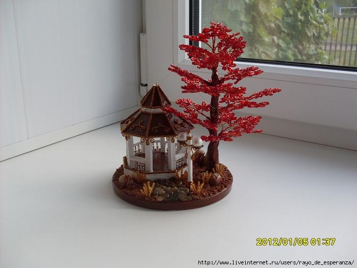беседка с красным деревом вид сбоку (700x525, 195Kb)