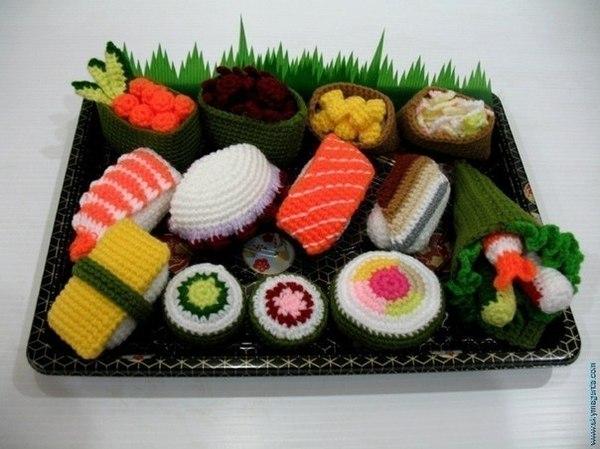 Вязаные десерты,тортики,овощи