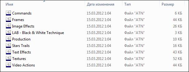 Как поместить файл действия (ATN) в папку действий Photoshop