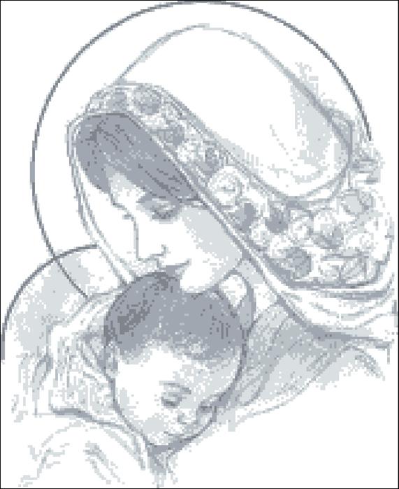 Младенец Вышивка Крестом Схема