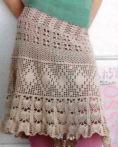 Вязанные юбки со ми