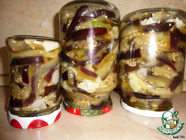 Баклажаны с грибами на зиму рецепты с пошагово