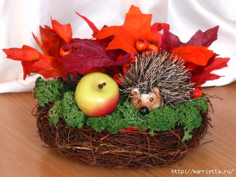 Осенняя поделка корзинка