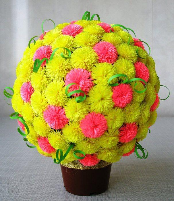 Цветочные шары из бумаги своими руками мастер