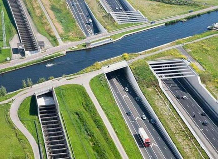 Необычный «Кольцевой канал» в Нидерландах