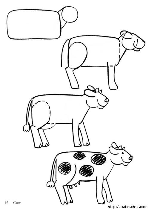 Рисуем животных.  Схемки простые и доступные даже для малышей.  Размещено с помощью приложения.  Я - фотограф.