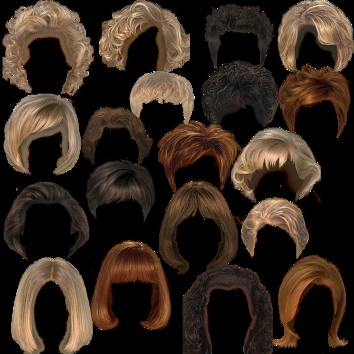 Клипарт волосы короткая стрижка