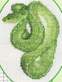 Змея из вышивка схема