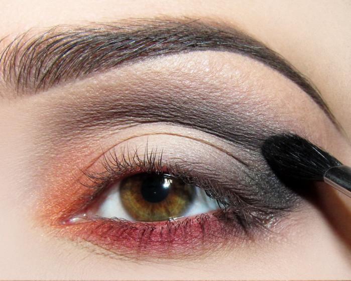 Макияж глаз из 4 цветов