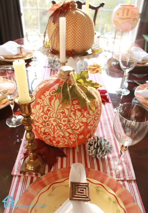 Fall tablescape decoupage pumpkins2 (487x700, 285Kb)