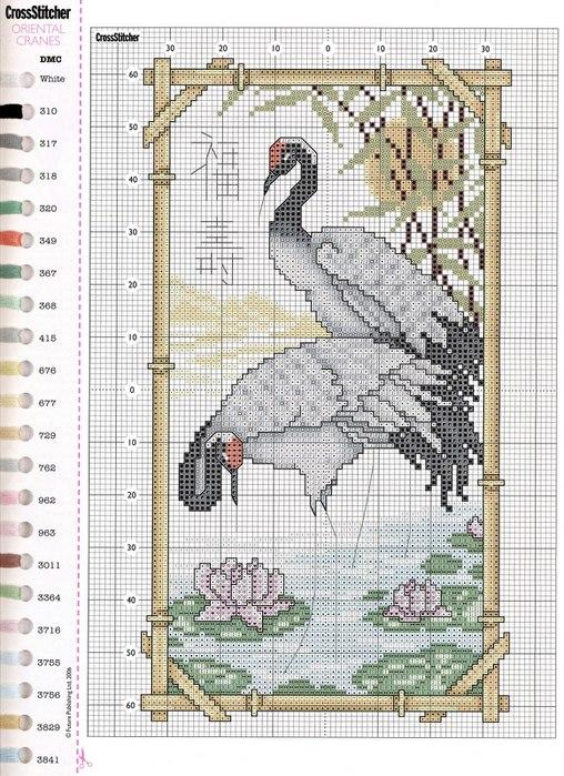 68 - Oriental Cranes (508x700,