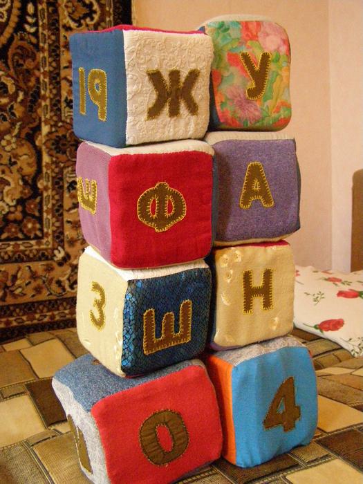 Мягкие кубики с буквами своими руками 78