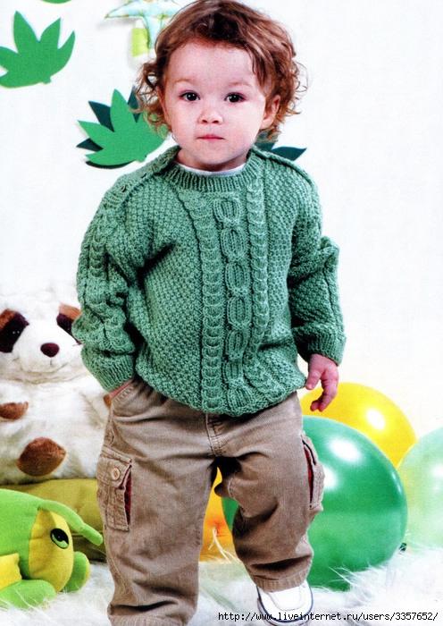 Вязаный свитер для малыша 6