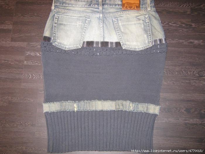旧牛仔裤还能干什么?34 牛仔针织裙(大师班) - maomao - 我随心动
